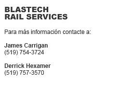 Blastech Rail Services Contactos