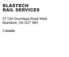 Blastech Rail Services Brantford