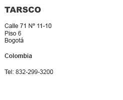 Tarsco Colombia