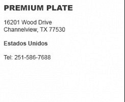 Premium Plate Channelview
