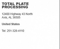 Total Plate Processing Axis