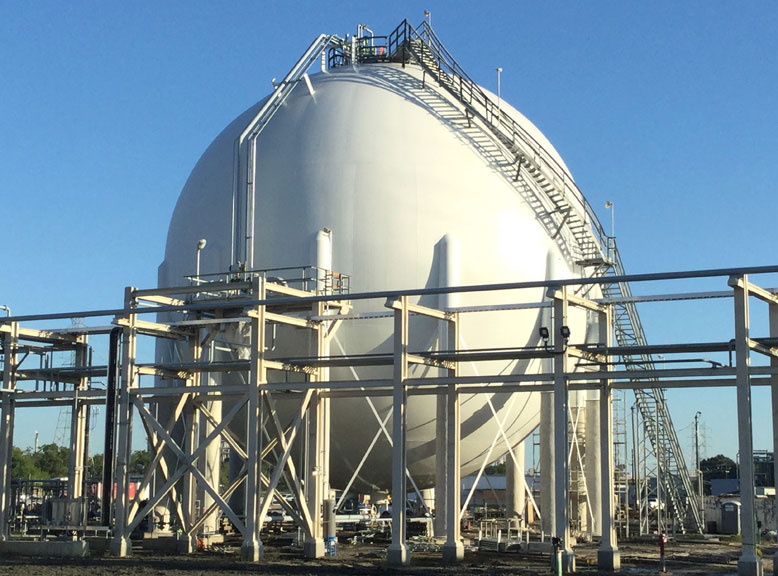 Butene-1 Storage Sphere in Baytown, TX
