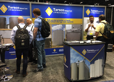 Tarsco Bolted Tank Exhibiting at WEFTEC